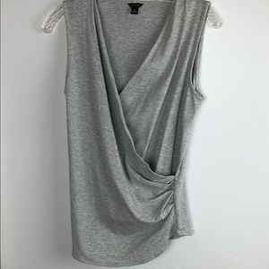 EUC Ann Taylor Gray Sleeveless Top Size Medium